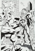 Original Comic Art:Splash Pages, Ale Garza and Trevor Scott Superman/Thundercats #1 Page 24Original Art (DC, 2004)....