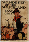 Books:Literature 1900-up, Zane Grey. Wanderer of the Wasteland. New York and London:Harper Brothers, [1923]. First edition, first printing. ...