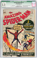 Silver Age (1956-1969):Superhero, The Amazing Spider-Man #1 (Marvel, 1963) CGC Qualified GD+ 2.5Off-white to white pages....