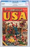 Golden Age (1938-1955):Superhero, USA Comics #16 (Timely, 1945) CGC GD/VG 3.0 Off-white to white pages....