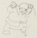 Animation Art:Production Drawing, Klondike Kid Peg-Leg Pete Production Drawing Animation Art(Walt Disney, 1932)....