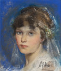 Mainstream Illustration, NEYSA MORAN MCMEIN (American, 1888-1949). Young Bride.Pastel on board. 13.625 x 11.625 in.. Signed lower right. ...