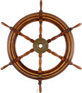 Military & Patriotic:WWII, Ship's Wheel From the SS David O. Saylor, Scuttled On June 8, 1944 off Utah Beach to Create Sheltered Waters.... (Total: 2 Items)