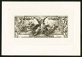 Large Size:Federal Proofs, Hessler SCE12 Fr. 268 1896 $5 Silver Certificate Face Proof New.....