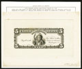 "Large Size:Federal Proofs, Hessler 361 Fr. 271 $5 1899 Silver Certificate Face Proof and ""Running Antelope"" Vignette.. ... (Total: 2 items)"