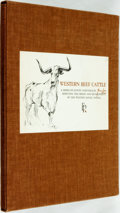 Books:Art & Architecture, Tom Lea. Western Beef Cattle, A Series of Eleven Paintings by Tom Lea Depicting the Origin and Development of the ...