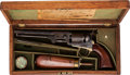Handguns:Single Action Revolver, Cased and Engraved Colt Model 1851 Navy Percussion Revolver withAccessories...