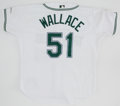 Baseball Collectibles:Uniforms, 2001 Jeff Wallace Game Worn Tampa Bay Devil Rays Jersey....