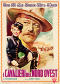 "Movie Posters:Western, She Wore a Yellow Ribbon (RKO, 1950). Italian 2 - Foglio (39.25"" X54"").. ..."