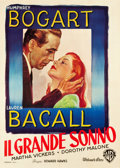 "Movie Posters:Film Noir, The Big Sleep (Warner Brothers, 1946). Italian 2 - Foglio (39.25"" X55"").. ..."