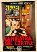 "Movie Posters:Hitchcock, Rear Window (Paramount, 1955). Italian 2 - Foglio (39.5"" X 55"")....."