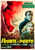 "Movie Posters:Academy Award Winners, On the Waterfront (Columbia, 1954). Italian 2 - Foglio (39"" X54.25"").. ..."