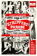 "Movie Posters:Sexploitation, Strippers Parade (Beautiful Productions Inc., 1956). One Sheet(27.5"" X 41"").. ..."