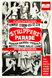 """Strippers Parade (Beautiful Productions Inc., 1956). One Sheet (27.5"""" X 41"""")"""