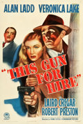 "Movie Posters:Film Noir, This Gun for Hire (Paramount, R-1945). One Sheet (27.5"" X 41"")....."