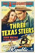 "Movie Posters:Western, Three Texas Steers (Republic, 1939). One Sheet (27.25"" X 40.75"").. ..."