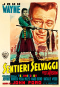 "Movie Posters:Western, The Searchers (Warner Brothers, 1956). Italian 2 - Foglio (38.25"" X 55.5"").. ..."