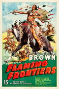 """Movie Posters:Serial, Flaming Frontiers (Universal, 1938). Stock One Sheet (27"""" X 41"""")....."""