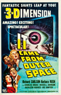 "Movie Posters:Science Fiction, It Came from Outer Space (Universal International, 1953). One Sheet(26.75"" X 41.5"") 3-D Style.. ..."