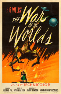 """The War of the Worlds (Paramount, 1953). One Sheet (27"""" X 40.75"""")"""
