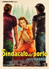 "Rumble on the Docks (Columbia, 1956). Italian 2 - Foglio (39"" X 55"")"