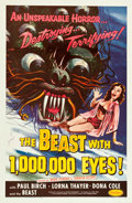 "Movie Posters:Science Fiction, The Beast with 1,000,000 Eyes! (American Releasing Corp., 1955).One Sheet (27"" X 41"").. ..."