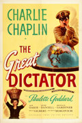 "Movie Posters:Comedy, The Great Dictator (United Artists, 1940). One Sheet (27.25"" X41"").. ..."