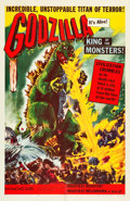 "Movie Posters:Science Fiction, Godzilla (Trans World, 1956). One Sheet (27"" X 41.5"").. ..."