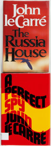 Books:Mystery & Detective Fiction, John Le Carré. SIGNED. A Perfect Spy [and:] The Russia House. Various publishers, 1986, 1989. First edition,... (Total: 2 Items)