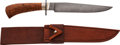 Edged Weapons:Knives, Damascus Bowie Knife by Jon Christensen....