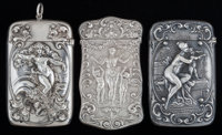 THREE AMERICAN SILVER AND SILVER GILT MATCH SAFES, Gorham Manufacturing Co., Providence, Rhode Island, circa 1871