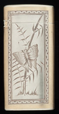 Silver Smalls:Match Safes, AN AMERICAN SILVER AND SILVER GILT MATCH SAFE, Gorham ManufacturingCo., Providence, Rhode Island, circa 1860. Marks: (lion-...