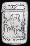Silver Smalls:Match Safes, AN AMERICAN SILVER MATCH SAFE, Payne & Baker, North Attleboro,Massachusetts, circa 1900. Marks: P&B (in hearts),STER...