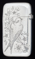 Silver Smalls:Match Safes, AN AMERICAN SILVER MATCH SAFE, Gorham Manufacturing Co.,Providence, Rhode Island, circa 1886. Marks: (lion-anchor-G),STE...