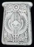 Silver Smalls:Match Safes, AN AMERICAN SILVER MATCH SAFE, R. Blackinton & Co., NorthAttleboro, Massachusetts, circa 1900. Marks: B (withsword),...