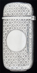 Silver Smalls:Match Safes, AN AMERICAN SILVER MATCH SAFE, Tiffany & Co., New York, NewYork, circa 1900. Marks: TIFFANY & CO., S852M, 5570,STERLING ...