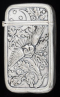 Silver Smalls:Match Safes, AN AMERICAN SILVER PLATED MATCH SAFE, Pairpoint Mfg. Co., NewBedford, Massachusetts, circa 1900. Marks: PAIRPOINT MFG.CO...