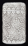 Silver Smalls:Match Safes, AN AMERICAN SILVER MATCH SAFE, Tiffany & Co., New York, NewYork, circa 1900. Marks: TIFFANY & CO., STERLING, 23, 986,9,M...