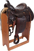 Western Expansion:Cowboy, Fine Early 20th Century A. Stelzig Saddle. ...