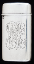 Silver Smalls:Match Safes, A TIFFANY & CO. SILVER MATCH SAFE, New York, New York, circa1900. Marks: TIFFANY & CO., 7127, T, 1645, STERLING.2-3/8 ...
