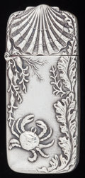 Silver Smalls:Match Safes, AN AMERICAN SILVER MATCH SAFE, Codding Bros. & Heilborn, NorthAttleboro, Massachusetts, circa 1900. Marks: C.H. & H.,STE...