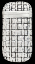 Silver Smalls:Match Safes, AN AMERICAN SILVER MATCH SAFE, Howard Sterling Co., Providence, RI,circa 1900. Marks: (shamrock), STERLING. 2-5/8 inche...