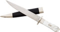 Edged Weapons:Knives, Coffin Hilt Bowie Knife and Scabbard by R.A. Frazier....