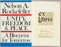Books:Americana & American History, Nelson A. Rockefeller. SIGNED. Unity, Freedom and Peace: ABlueprint for Tomorrow. New York: Random House, [1968]. F...