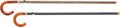 Long Guns:Single Shot, Lot of Two Curved Wooden Handle Breechloading Cane Guns.... (Total:2 Items)