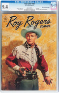 Golden Age (1938-1955):Western, Four Color #160 Roy Rogers Comics - Mile High pedigree (Dell, 1947) CGC NM 9.4 White pages....