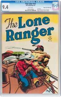Four Color #151 The Lone Ranger - Mile High pedigree (Dell, 1947) CGC NM 9.4 White pages