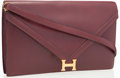 Luxury Accessories:Bags, Hermes Rouge H Calf Box Leather Lydie Bag. ...
