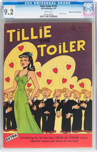 Four Color #132 Tillie the Toiler - Mile High pedigree (Dell, 1947) CGC NM- 9.2 White pages