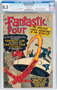 Fantastic Four #3 (Marvel, 1962) CGC VF+ 8.5 Off-white pages